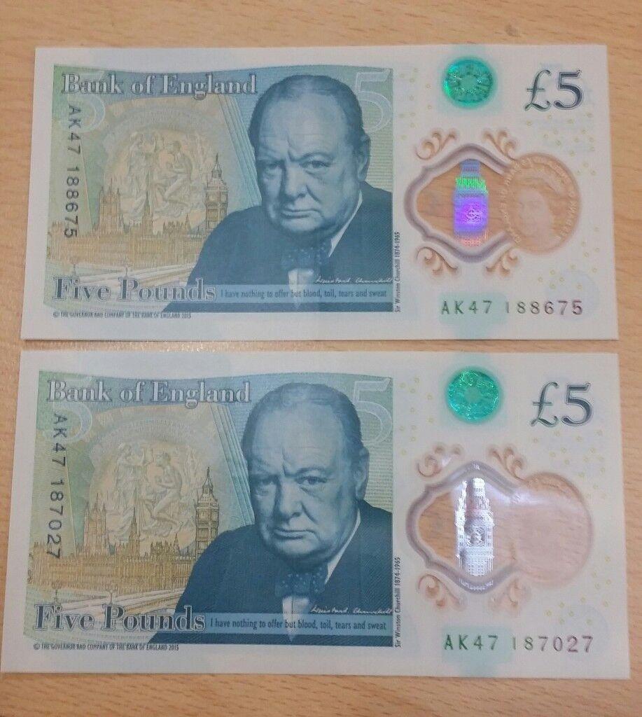 £5 Note AK47 rare collection
