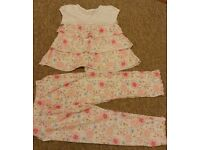 Girls practically NEW, genuine MINI VANILLA pyjamas 5-6 y and 6-7 y