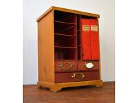 1950s Stone's Bureau Cabinet industrial antique vintage haberdashery storage kitchen desk office