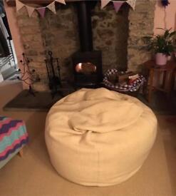 Large Bean Bag - cream coloured