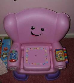 Fisher price pink sit&learn chair