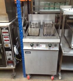 FALCON E1848 Three Phase Chip Fryer Twin Tank Double Basket Electric Catering