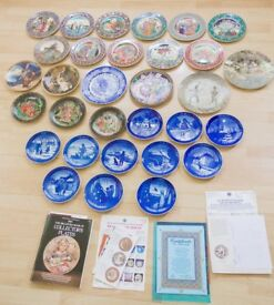 Collectable Plates Collection: Mixed Lot (31 plates): Royal Copenhagen, Tianex, Villeroy & Boch etc