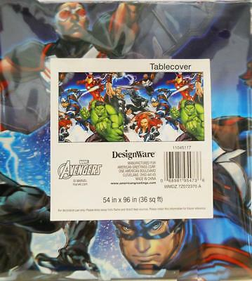 Avengers Table Cover (Marvel Avengers Plastic Table Cover Birthday Party Supplies 1 Per)