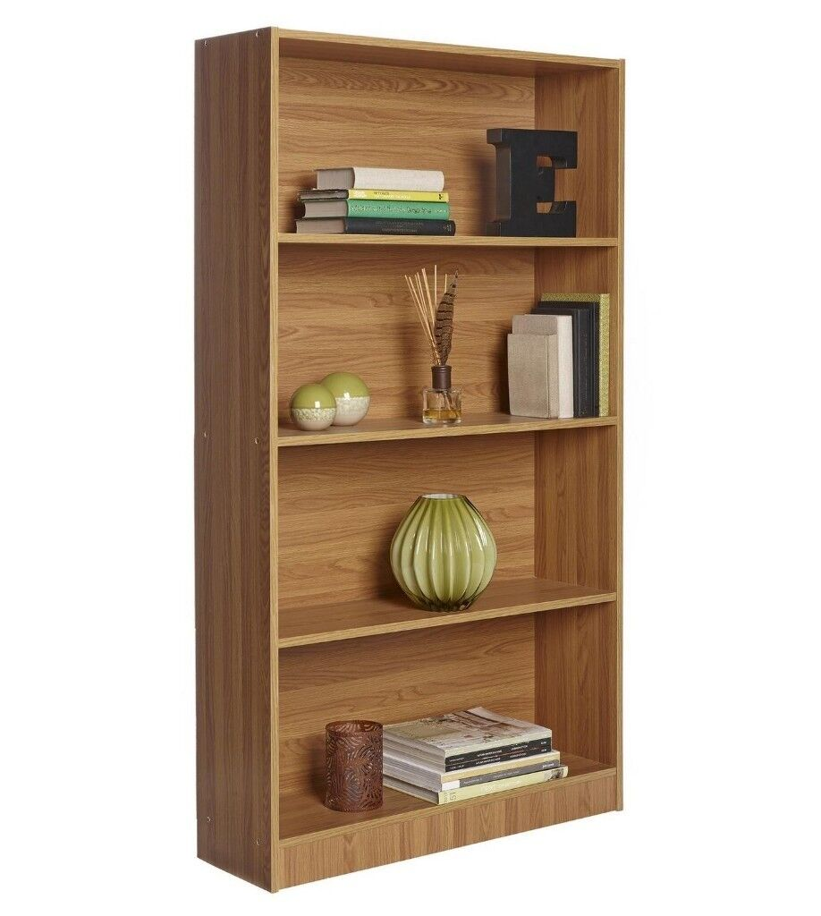 brand new contemporary 4 shelves bookcase storage unit living room