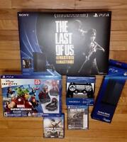 PS4 with Games, Stand, Extra Controller