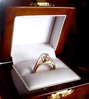 Gorgeous Solitaire Diamond Engagement Ring for the Petite Lady