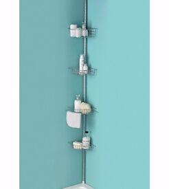 4 tier adjustable chrome shower bath shelves