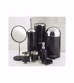 8 piece bathroom set in black