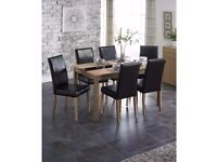 Brand new High quality 5 piece Wooden Dining table 4 chairs Set Ash/Black Large table