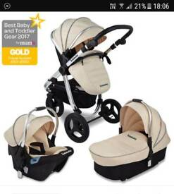 2 pram chassis. Uberchild supernova travel system plus extra chassis
