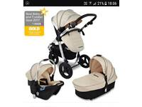 Bargain 2 prams 1 extra chassis. Uberchild supernova travel system plus extra chassis
