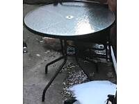 Glass Garden Table With Cover