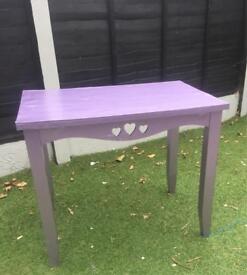 Next purple glitter desk / dressing table