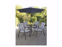 BRAND NEW 4 Seater Barcelona 6-Piece Padded Chair Patio Set - HIGH QUALITY