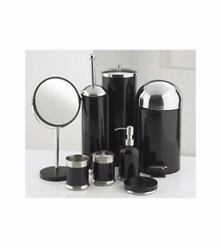 8 piece bathroom set in black