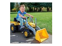 kids ride on digger tractor brand new