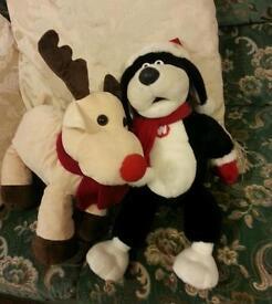 Christmas teddies reindeer