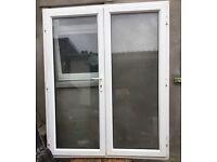 White PVC FRENCH DOORS £150