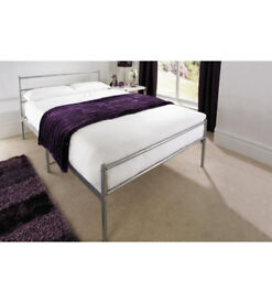 GEMINI DOUBLE BED SILVER
