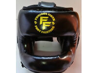 Furiousfistsuk Head-Guard Synthetic Leather Black Color