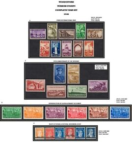 TURKEY-1938-COMPLETE-YEAR-SET-TURKISH-STAMPS-MNH