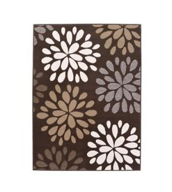 Floral Burst Chocolate Rug 120x 170cm £25.00 RRP £74.99 Brand new in packaging sealed