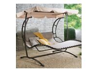Brand New Deluxe Garden Canopy Swing Bench Hammock Swinging Furniture Seat - H180 x W210 x L180cm