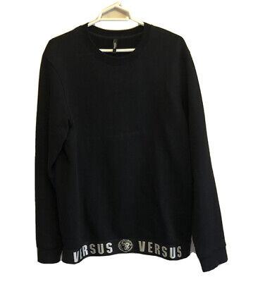 Mens Versus Versace Black Tape Tracksuit Top-XL Pant-Large