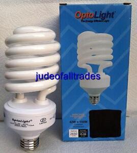 Compact Fluorescent Grow Light Bulb CFL 42w 42 watt = 150w 150 watt 2700k SAVE $