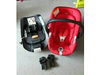 Cybex Aton Q car seat + isofix base