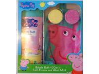 Peppa Pig Gift Set - Bubble Bath, Fizzers & Hand Wash Mitt