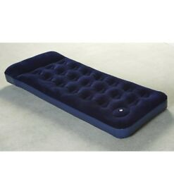 Flocked top single airbed