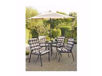 New Barcelona 6-Piece Padded Chair Patio Set