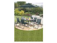 Brand New 6 Piece SET Garden Outdoor Patio Folding Chairs Furniture in Dark Green