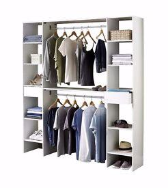 Brand NEW Bedroom Storage Solution Wardrobe open space storage White or Oak