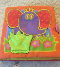 Galt fabric book large sensory baby toy childs