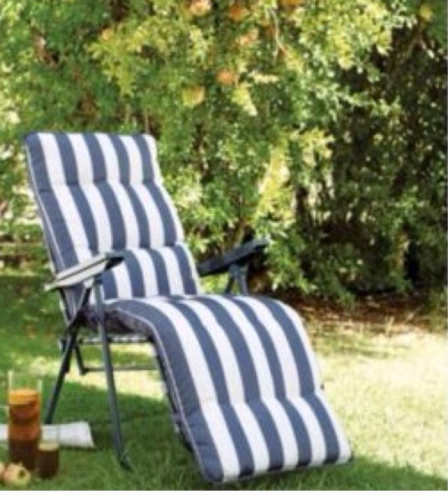 Relaxer sun chairblue and white striped used twicein Chislehurst, LondonGumtree - Collection from Chislehurst br7 6dn used twice new price £39 selling for £12 ono1 also have another one that matches Brand new blue & white sun chair in wrapper new price £39 bought last year, never used selling for £19.00I also have another blue...