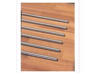 Kitchen hot rods for worktops stainless steel 300mm x 12mm (10pc)