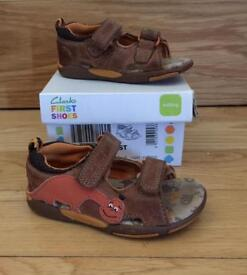 Clarks first shoes sandals size 4.5