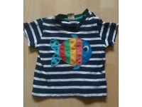 Frugi fish t-shirt 12-18 months