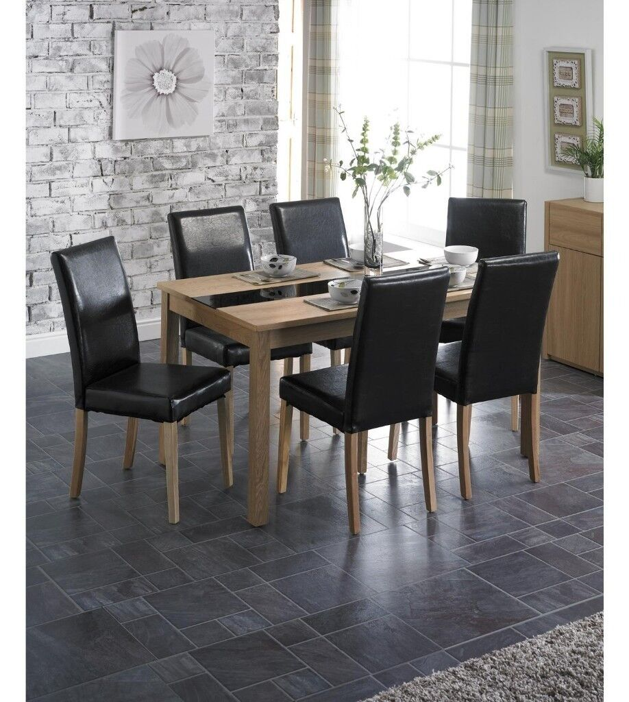 BRAND NEW Winchester 5 PIECE Ash Veneer Table Leather Chairs Luxury Dining Set