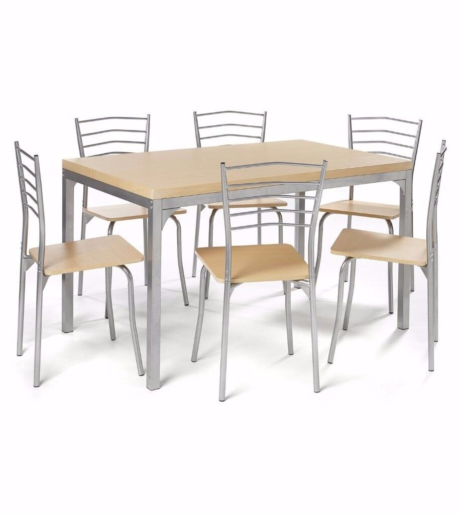 BRAND NEW Luxury 7 Piece Dining Set 6 Chair Large Table