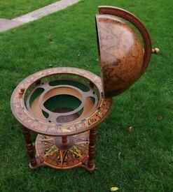 Large Vintage Style Decorative World Globe Drinks Cabinet. Good condition