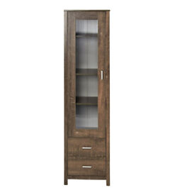 Brand New Oklahoma Display Unit Living Room Furniture Cabinet With Two Drawers - Dark Oak