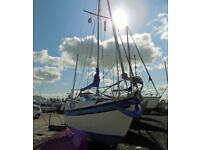 Westerly 22 sailing boat