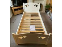 Single White Mia Hearts Bed from Next. (With or Without Mattress)