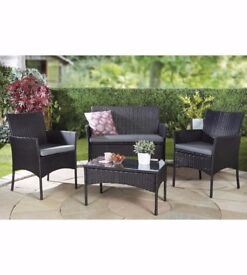 Lisbon Rattan Effect 4 Piece Garden Set