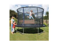 Brand New Plum Play 10ft Trampoline with Safety Enclosure Netting Jumping Mat