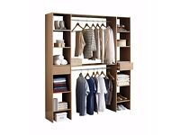 Brand NEW Bedroom Storage Solution Wardrobe open space storage in White or Oak